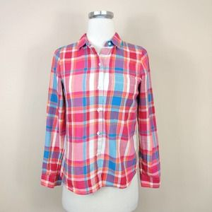 Broadway & Broome Plaid Cotton Button Up Shirt